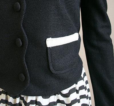 黑白蝴蝶結外套--細部照片2.jpg