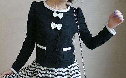 黑白蝴蝶結外套--細部照片5.jpg