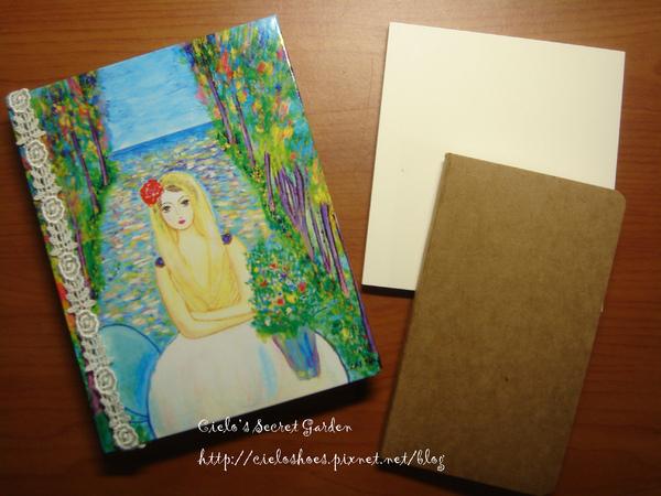 筆記本和送的便條紙及小本