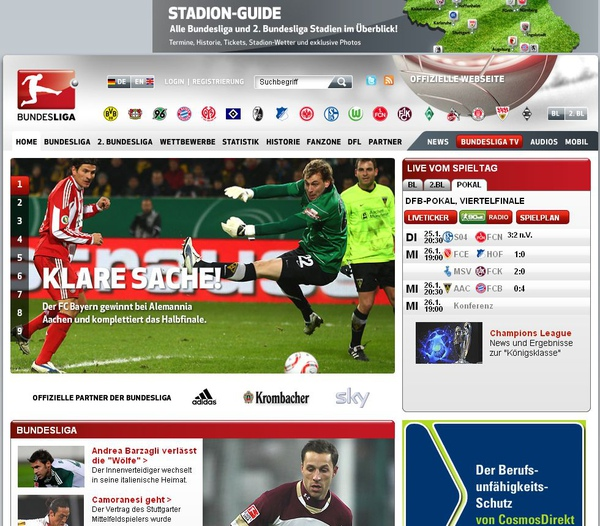 Bundesliga (看足球比賽學德語)
