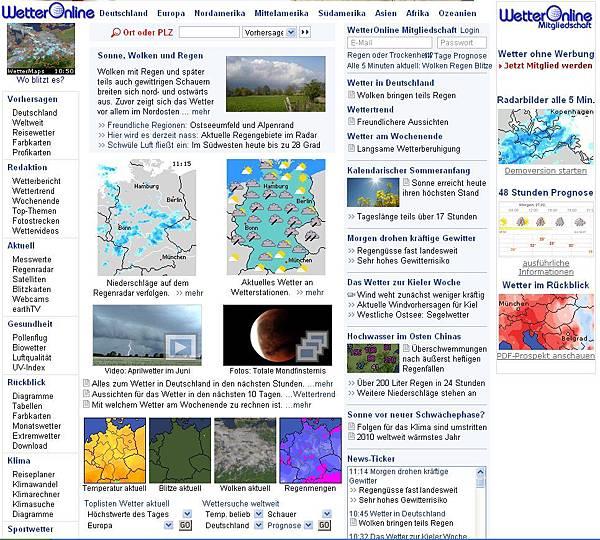 wetteronline.de德國氣候網站