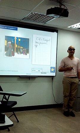 成人法文初級班示範電子白板教學 (Olivier 老師)
