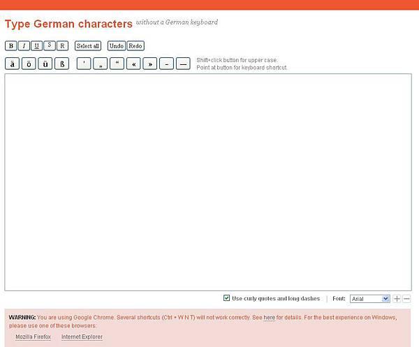 《德文專區》線上學習網站:Type German characters (線上德文鍵盤)