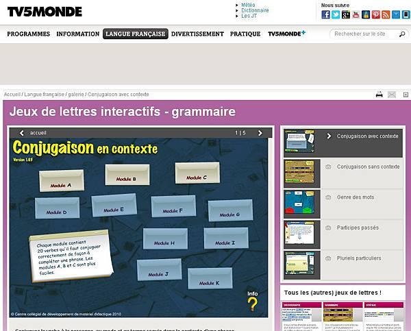 TV5MONDE - Langue française - Jeux de lettres interactifs