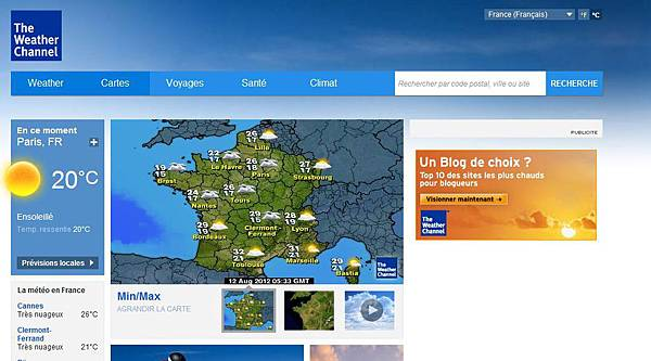 fr.weather.com 法國天氣預報