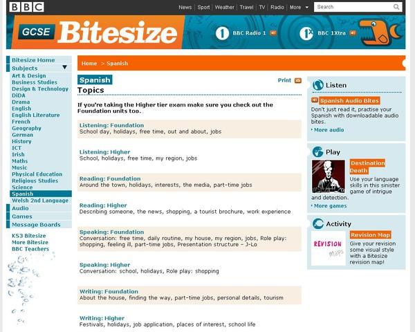 BBC GCSE Bitesize-Spanish