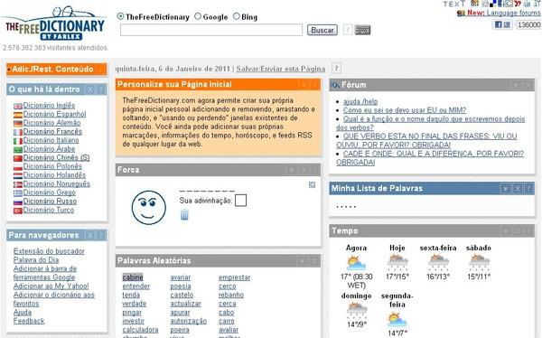 The Free Dictionary (葡萄牙語線上字典)