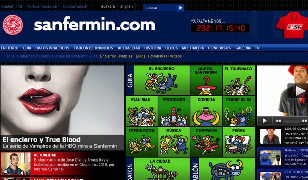 San Fermin.com (西班牙奔牛節)