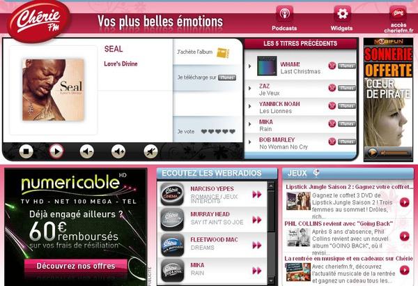 Chérie FM法國流行音樂台