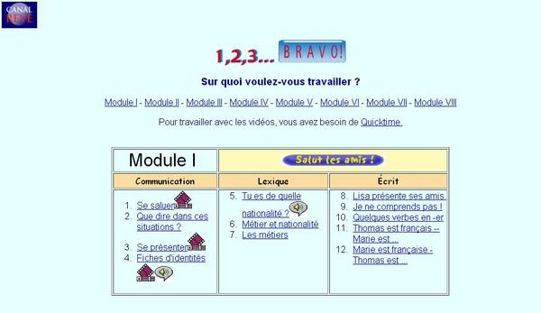 Canal Rêve - 1, 2, 3... Bravo