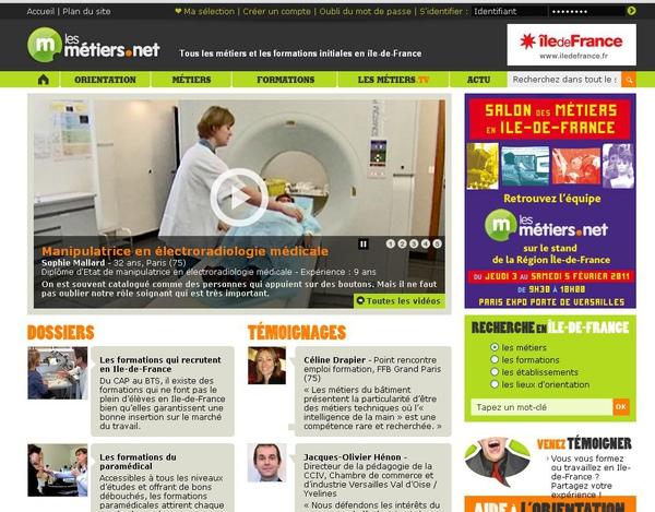 Les Métiers.net (從職場的各行各業學法語)