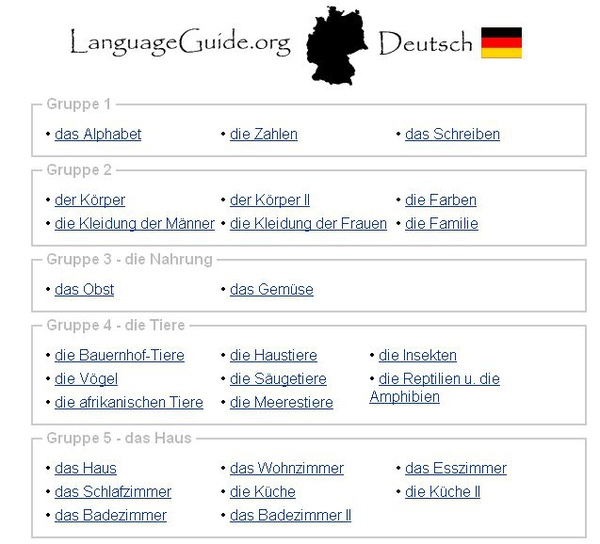 Language Guide Deutsch