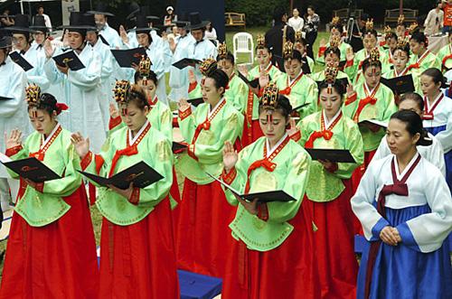 韓國為少女舉行成人儀式