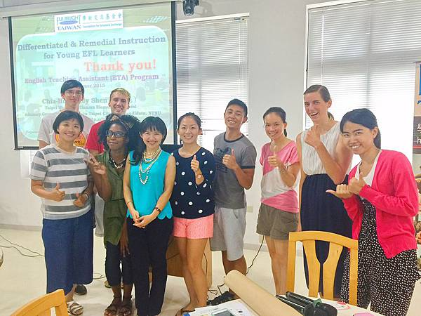 Cindy and ETA Fulbrighters in Taipei City 2015