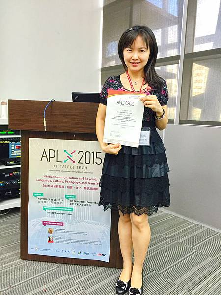 oral academic presentation at the International Conference on Applied Linguistics