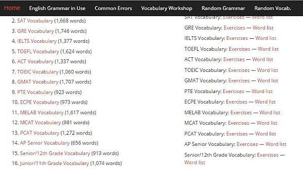Grammar Vocabulary tests