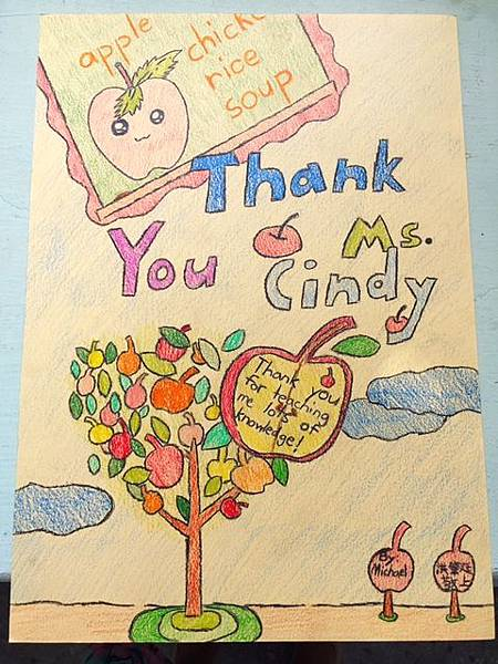 Thank U card from student