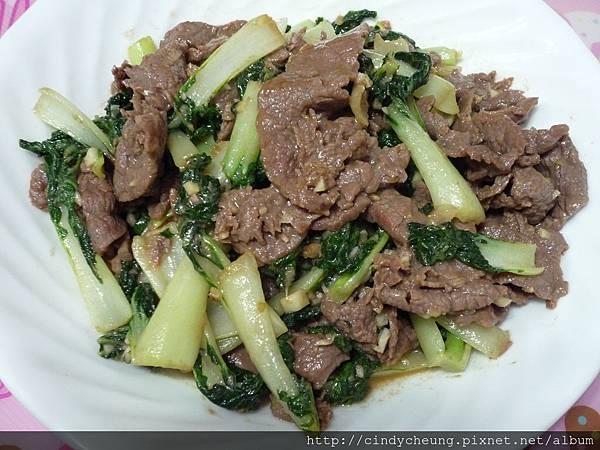 白菜仔炒牛肉