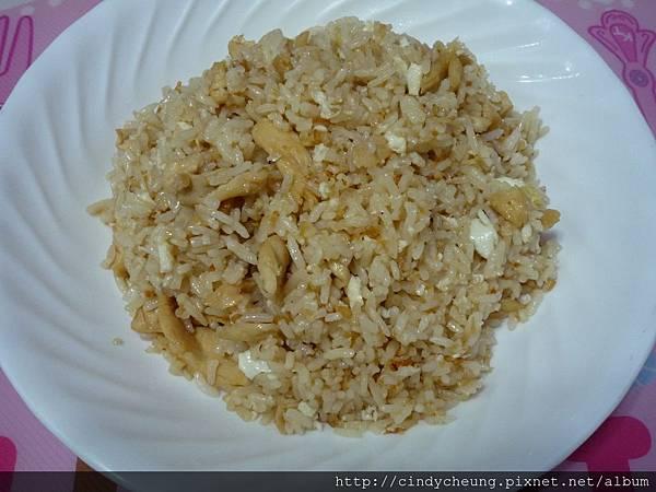 香蒜薑汁雞肉蛋白炒飯