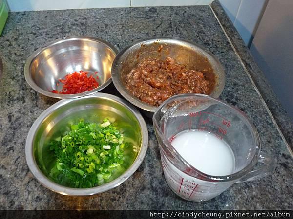 香蔥肉醋麵 - 材料