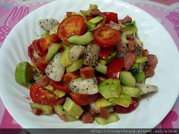 蔬菜煙肉火腿沙律