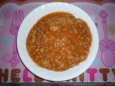 薯仔茄汁豆飯