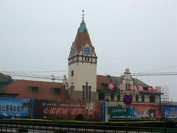 54整修中的青島火車站.jpg