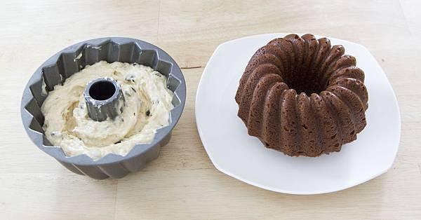 香蕉巧克力花型磅特蛋糕-4