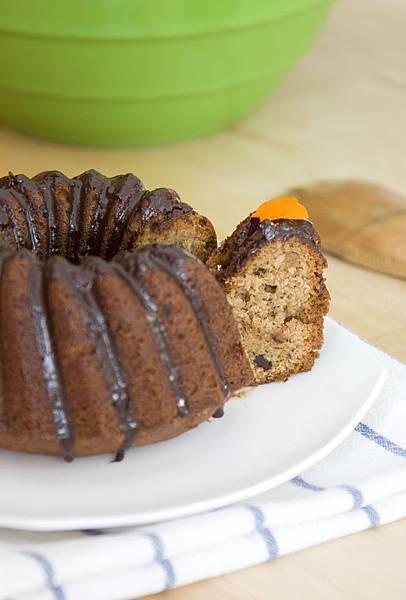 香蕉巧克力花型磅特蛋糕-1
