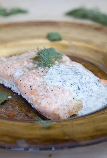 烤鮭魚佐蒔蘿優格醬-5