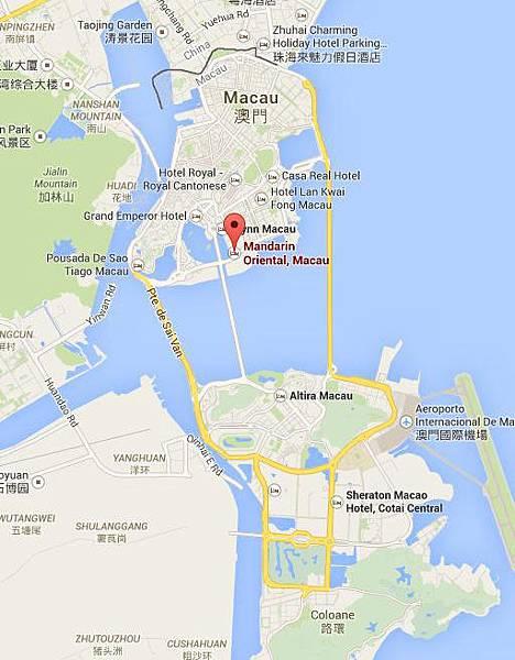 澳門文華東方地圖-1