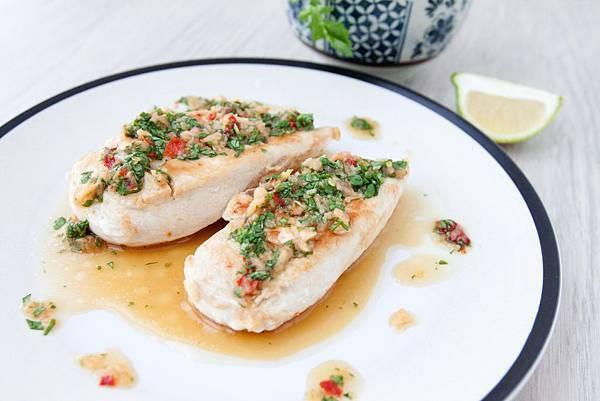 香煎雞肉佐寮風酸辣醬汁 - 1