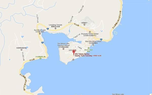 涵碧樓地圖
