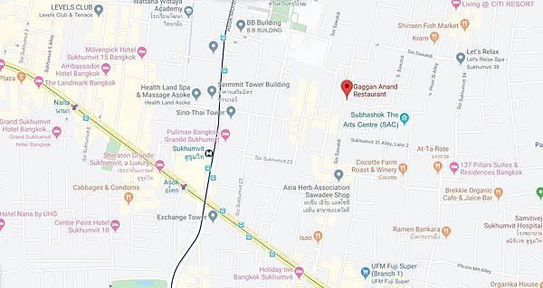 2019 Bangkok Gaggan Anand Map