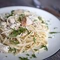 鮮蝦雞肉番紅花奶油義大利麵 - 3