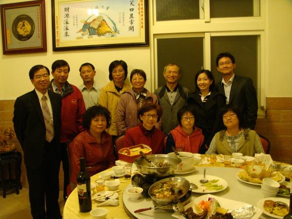 晚上回到彰化和阿姨舅舅們吃晚餐