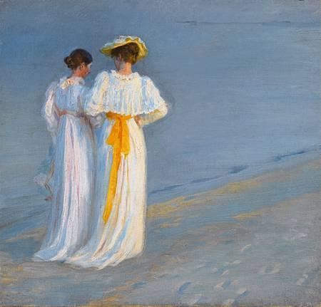 Peder_Severin_Krøyer_-_Anna_Ancher_og_Marie_Krøyer_på_stranden_ved_Skagen