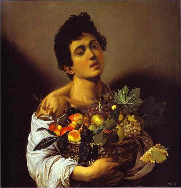 抱果籃的男孩 Boy with Basket of Fruit