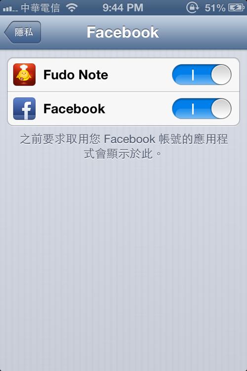 FacebookSetting