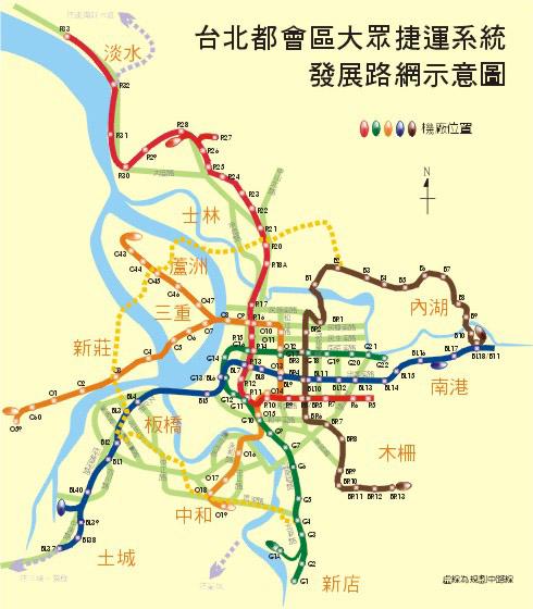 捷運局某個年代的路網圖