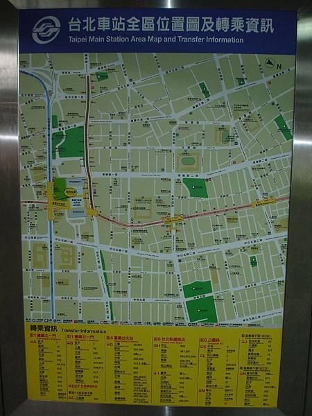 中山地下街週邊地圖