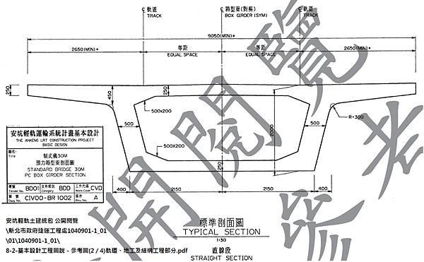 安坑線標準高架斷面