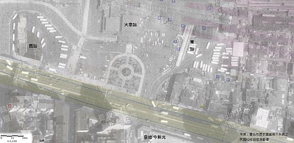 公路局東西站於62年版航測影像