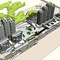 金城機廠開發量體示意圖