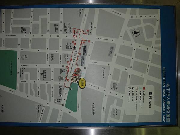忠孝西路地下街古地圖