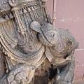 我拍Krishna其實是因為這隻牛~~牠呀,眼神多麼地渴慕神ㄚ!! 好可愛~