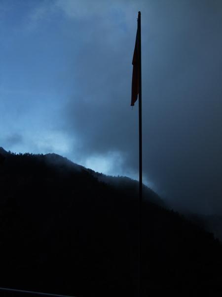 排雲的國旗