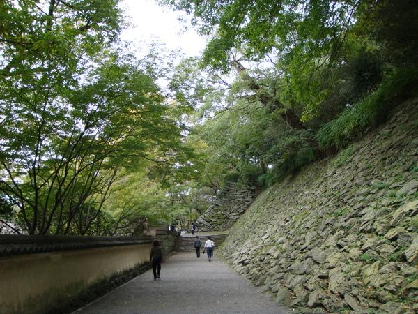 右方就是山下的部分城牆,全是石砌