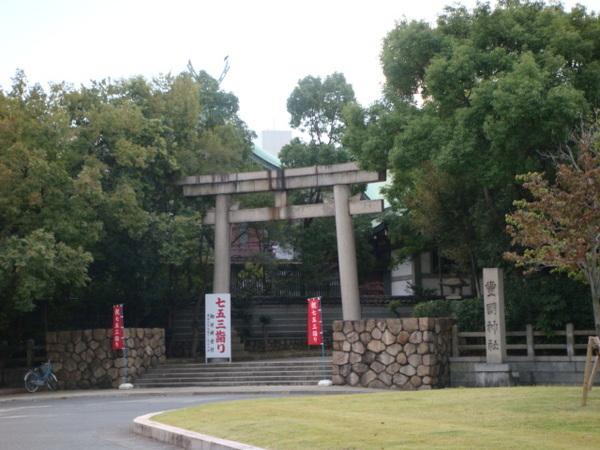 園裡有個神社,不過時間不夠去參拜,大阪城輕鬆的散步至少也要花個1小時!