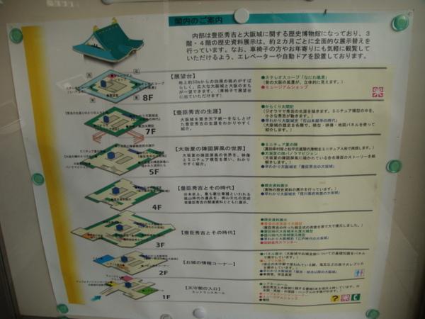 有八層,進去走完要一小時,不能攝影。兄弟呀,來大阪城的話要準備至少2小時的停留時間唷~